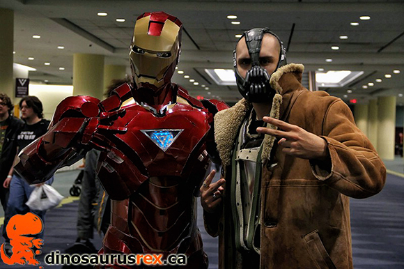 Ironman and Bane cosplay
