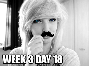 Movember 2012   Week 3 Update…'The Layton' 1/2 completed