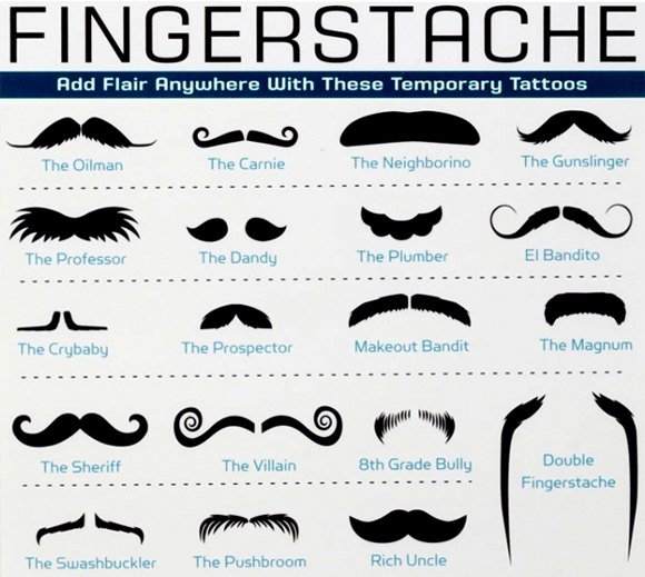 Names of different types of mustaches
