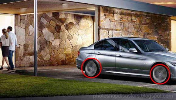 Car ad photoshop fail